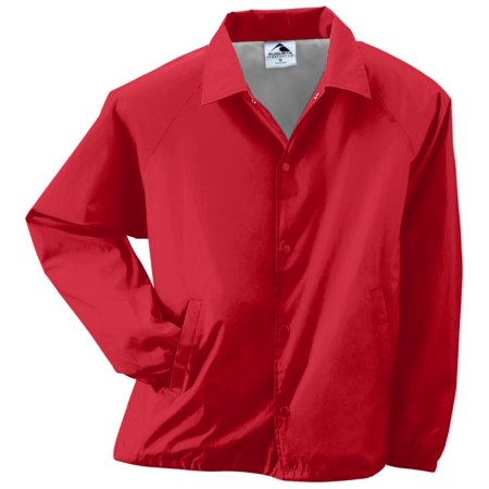 Nylon Taffeta Jacket (NYLON COACH'S JACKET/LINED RED M)