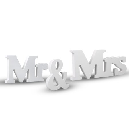 TSV Vintage Style Mr and Mrs Sign Mr & Mrs Wooden Letters Wedding Sign with Silver Glitter for Christmas Decorations, Wedding Table, Photo Props, Party Table, Top Dinner Decoration (Amazon Wedding Decorations)