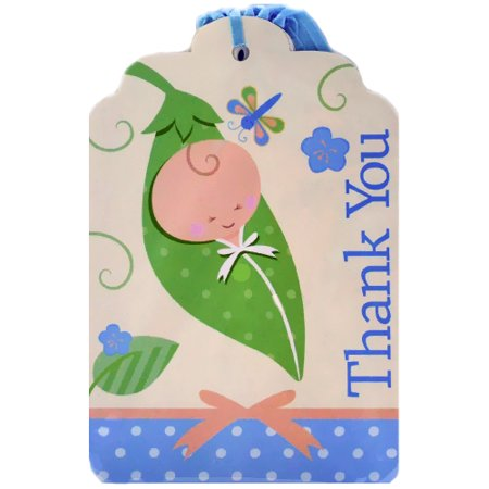 Baby Shower 'Sweet Pea' Thank You Notes w/ Envelopes (Sweet Pea Announcements)