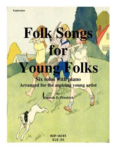 Folk Songs for Young Folks Euphonium and Piano by