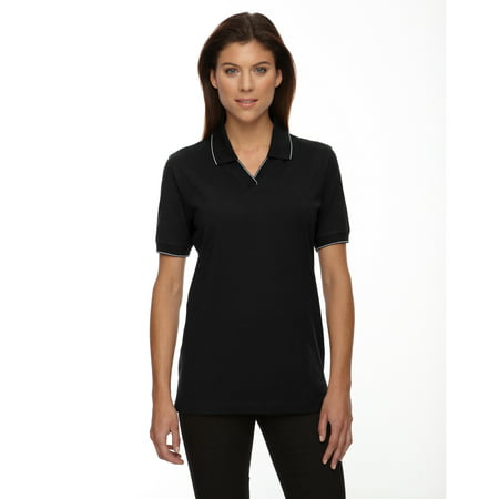 A Product of Ash City - Extreme Ladies' Cotton Jersey Polo - BLACK 010 - M [Saving and Discount on bulk, Code Christo] - Pajama City Promo Code