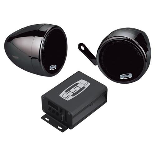 Soundstorm SMC75 Motorcycle-UTV System 3 inch Speakers-Amp 600W Max USB SD  FM Tuner Aux input