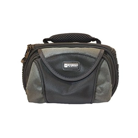 Canon FS20 Camcorder Case Camcorder and Digital Camera Case - Carry Handle & Adjustable Shoulder Strap - Black / Grey - Replacement by Synergy