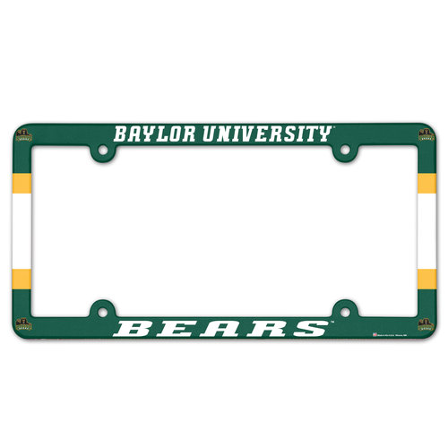 Baylor Bears Plastic License Plate Frame
