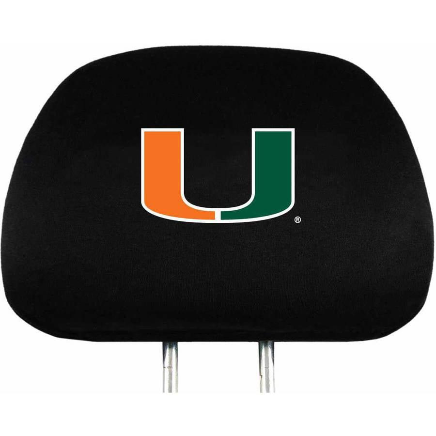 NCAA Miami Head Rest Cover