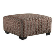 Signature Design by Ashley Furniture Doralin Square Ottoman in Steel