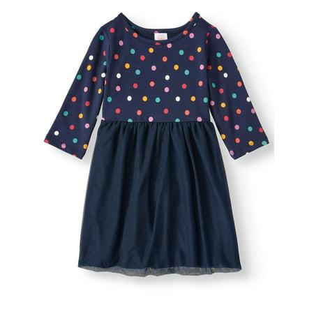 Girls Dresses With Sleeves (Wonder Nation Long Sleeve Tutu Dress (Toddler)