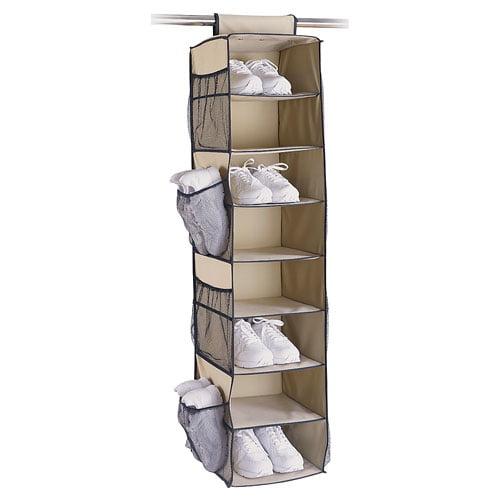 8-Shelf Shoe/Sweater Bag with Side Pockets, Wheat