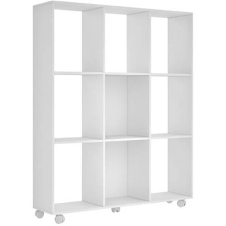Image of Manhattan Comfort Accentuations 9-Shelf Natal 3.0 Bookcase