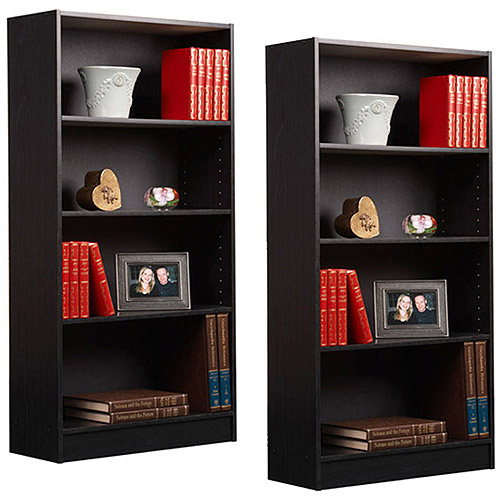 Orion 4-Shelf Bookcases, Set of 2