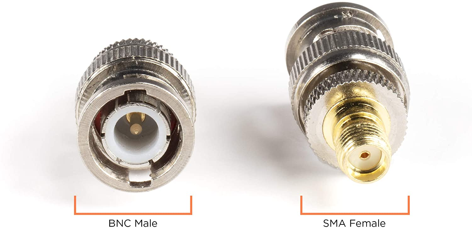 HD-SDI Compatible with RF Gold SMA Female to BNC Female Adapter THE CIMPLE CO RF Connector 25 Pack Coupler Male to Female Coaxial CCTGV Camera SDI