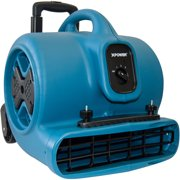 XPOWER P-630HC 1/2HP Air Mover with Telescopic Handle & Wheels & Carpet Clamp