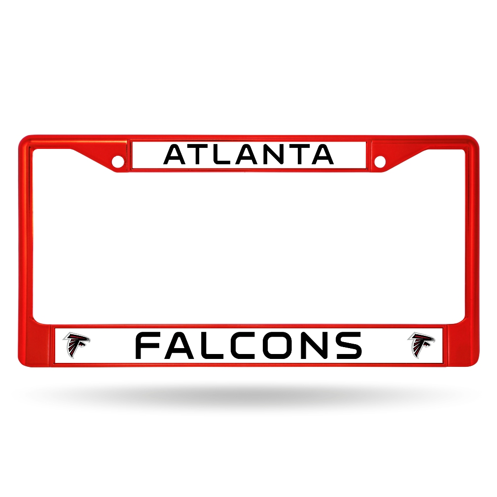Atlanta Falcons NFL Licensed Red Painted Chrome Metal License Plate Frame
