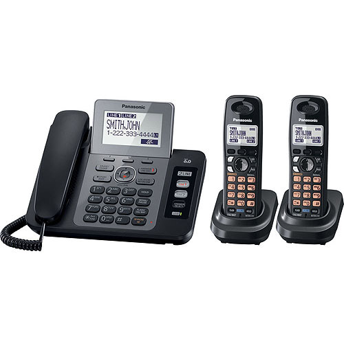 Panasonic Dect 6.0 Two Line Corded/Cordless Phone System