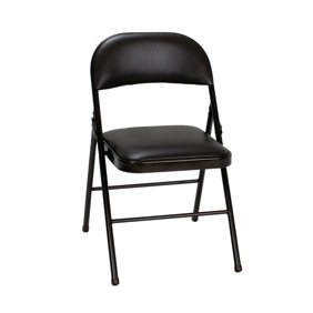 Incredible Plastic Development Group Vinyl Padded Folding Chair Black Alphanode Cool Chair Designs And Ideas Alphanodeonline