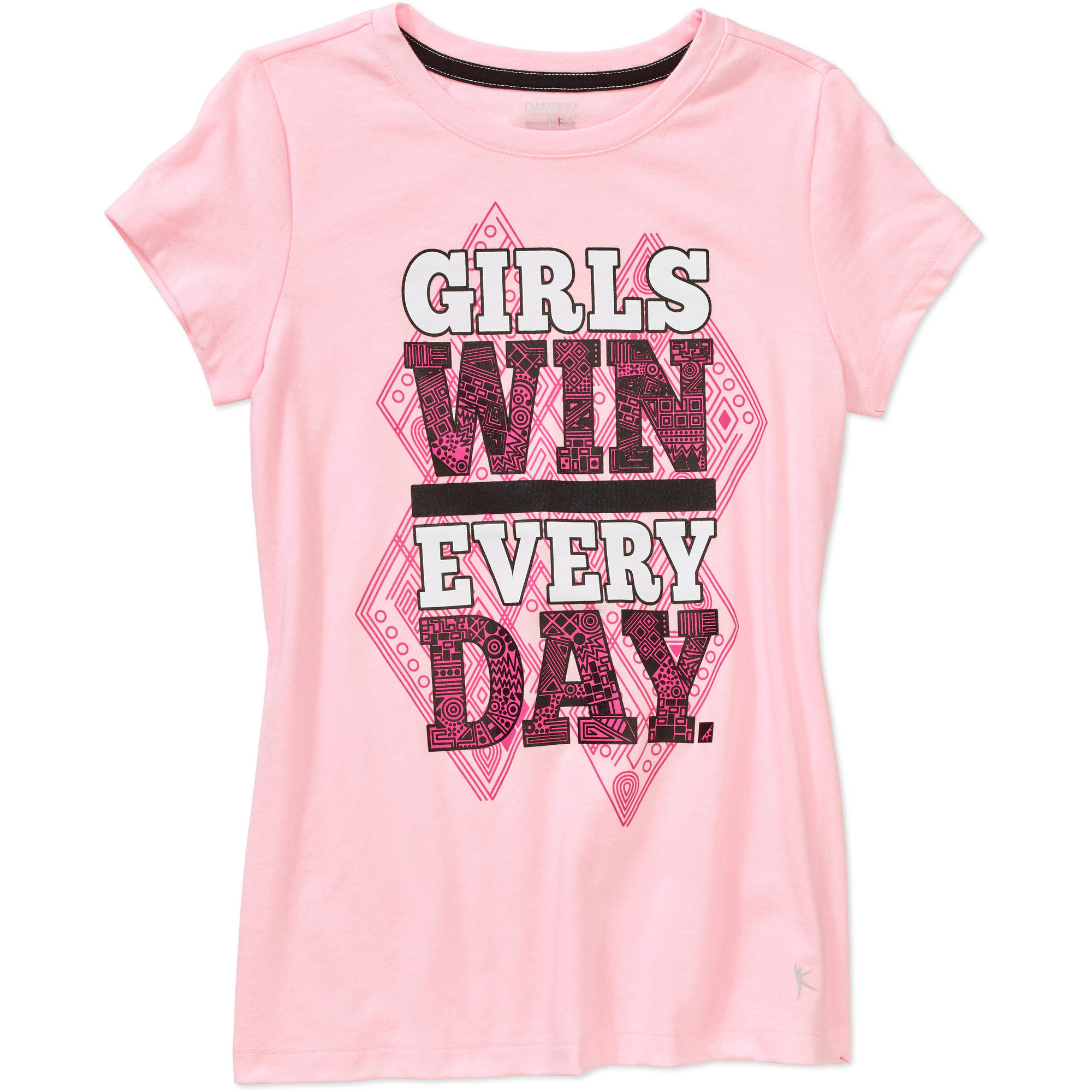 Danskin Now Girls' Graphic Cotton Tee