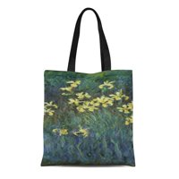 da3b5a270 Product Image SIDONKU Canvas Tote Bag Flower Claude Monet Yellow Botanical  Fine Nature Painting Impressionism Reusable Handbag Shoulder