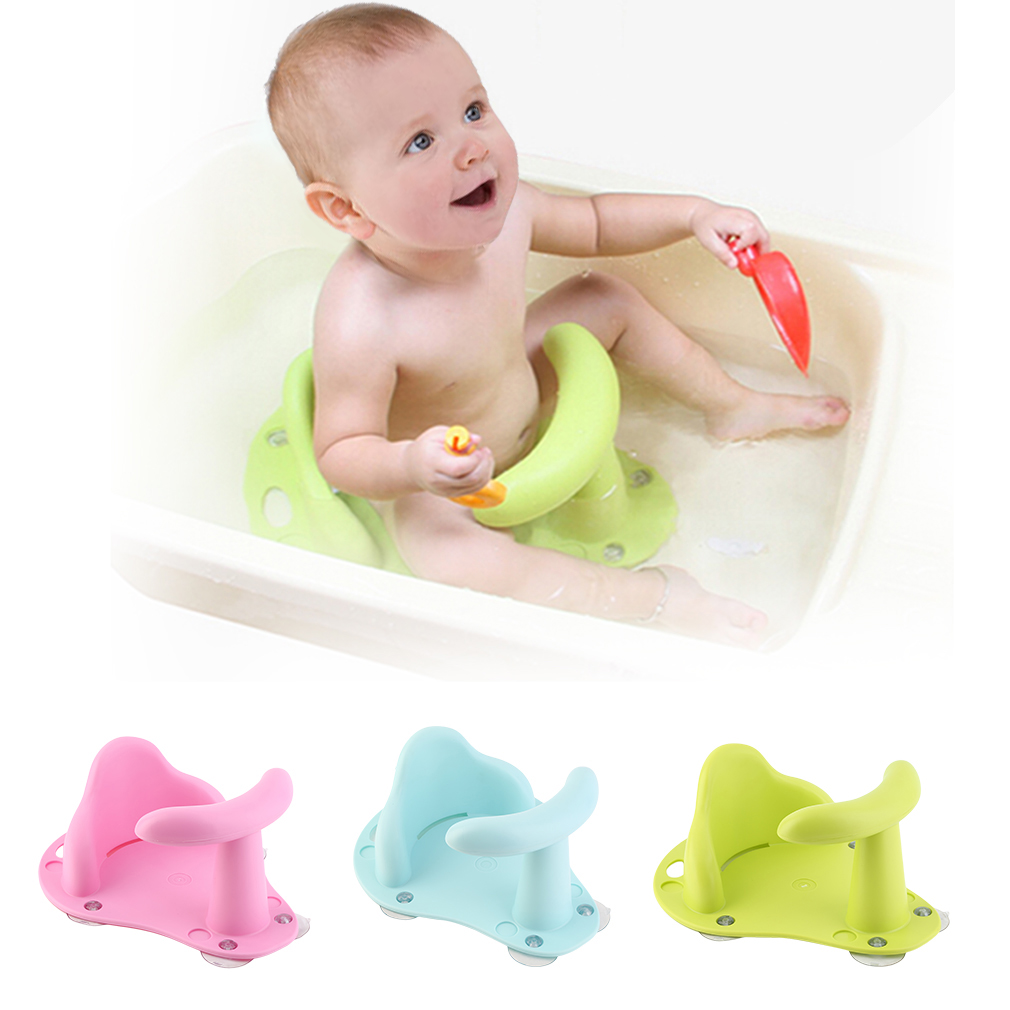 Bath Chair For Tub For Baby, Baby Bathtubs Newborns, Toy Boats For Bathtub, Baby Bath Tub Ring Seat Infant Child Toddler Kids Anti Slip Safety Chair