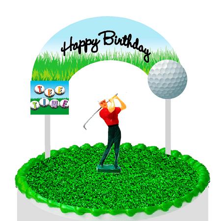 Cake / Food / Cupcake / Desert Decoration Banner Decorating Topper Kit Golf - Golf Decorating Ideas