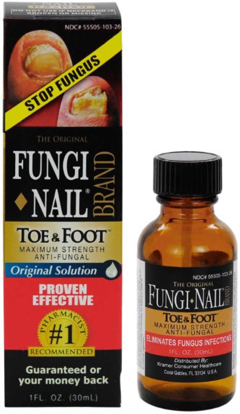 Fungi-Nail Brand Anti-Fungal Solution 1 oz (Pack of 2) - Walmart.com