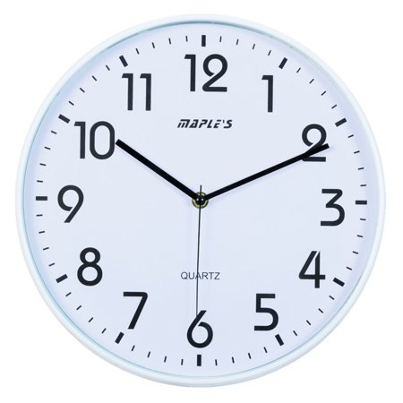 Maples Sales Plastic 12 in. Wall Clock - White