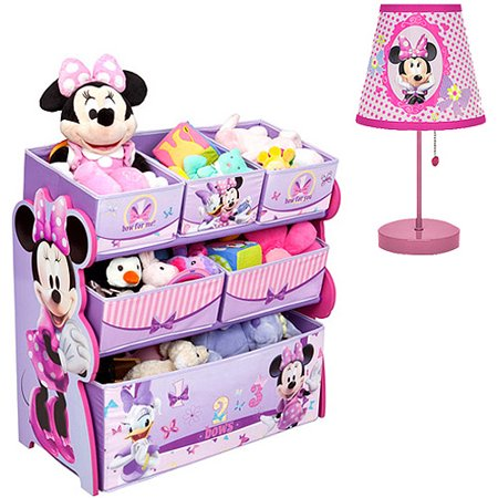 Disney Mouse Lamp (Disney - Minnie Mouse Multi-Bin Organizer & Table Lamp - Value)