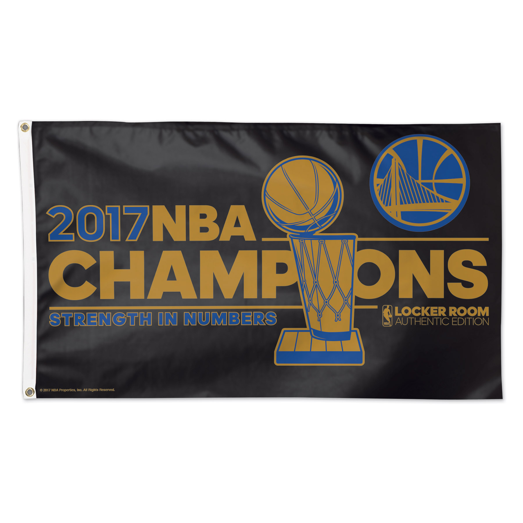Golden State Warriors WinCraft 2017 NBA Finals Champions 3' x 5' Deluxe Flag - No Size