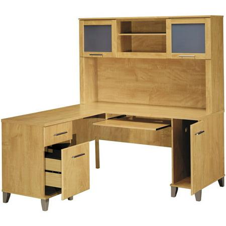 Bush Somerset 60 Quot L Shaped Computer Desk And Hutch Set