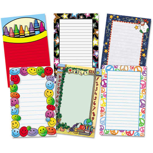 Teacher Created Resources 9033 Notepad Set  School/Seasonal Theme  6 50-Sheet Pads/pk