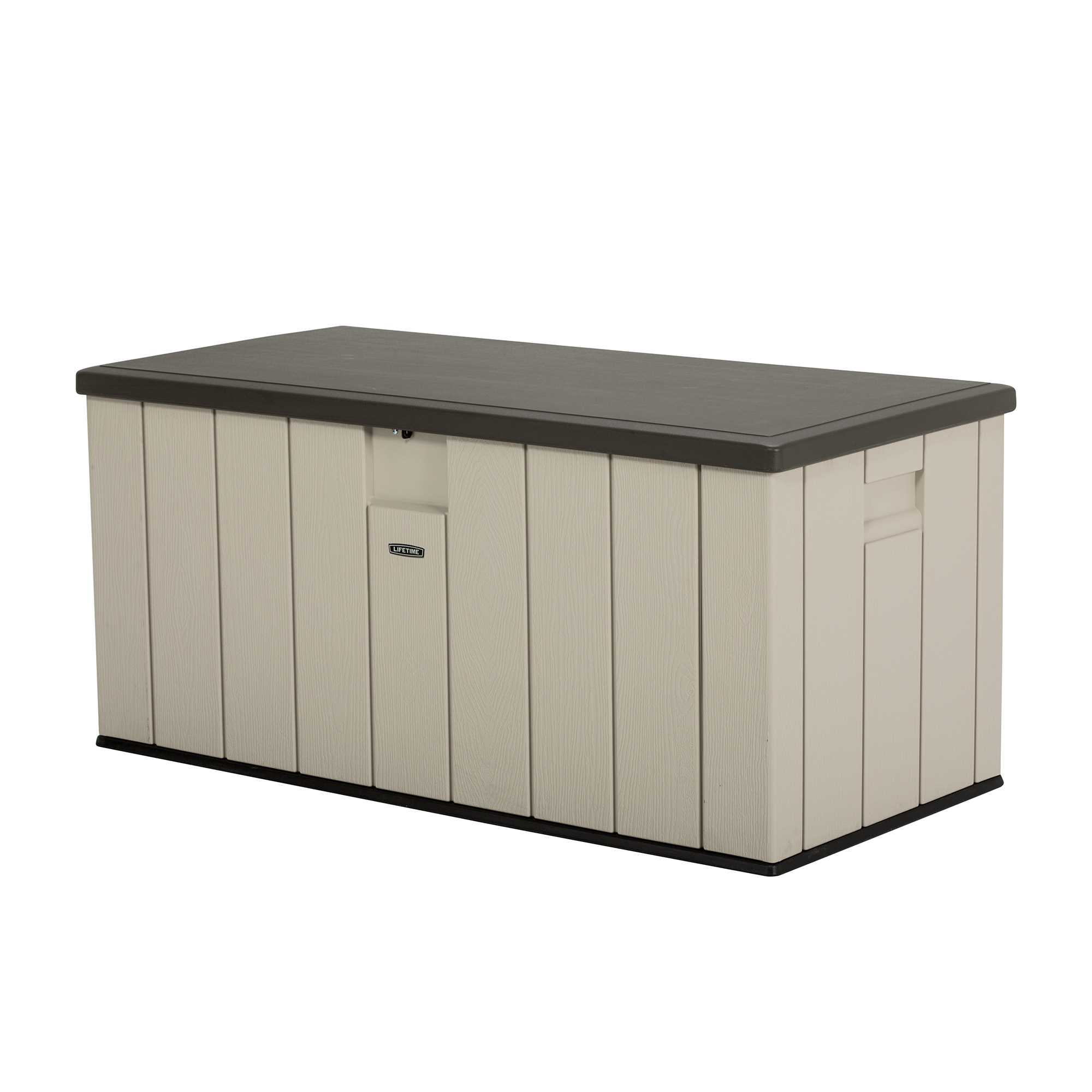 Lifetime 150 Gallon Heavy-Duty Outdoor Storage Deck Box, Desert Sand