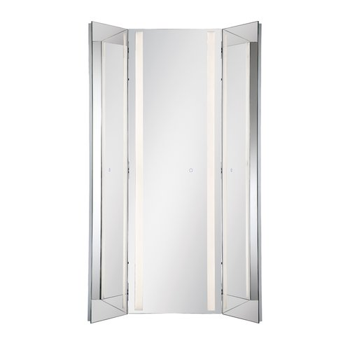 Orren Ellis Stoltenberg Tri Fold Led Bathroom Vanity Mirror