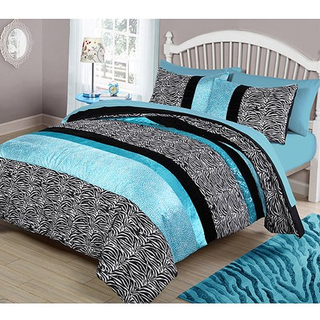 your zone teal animal bedding comforter set