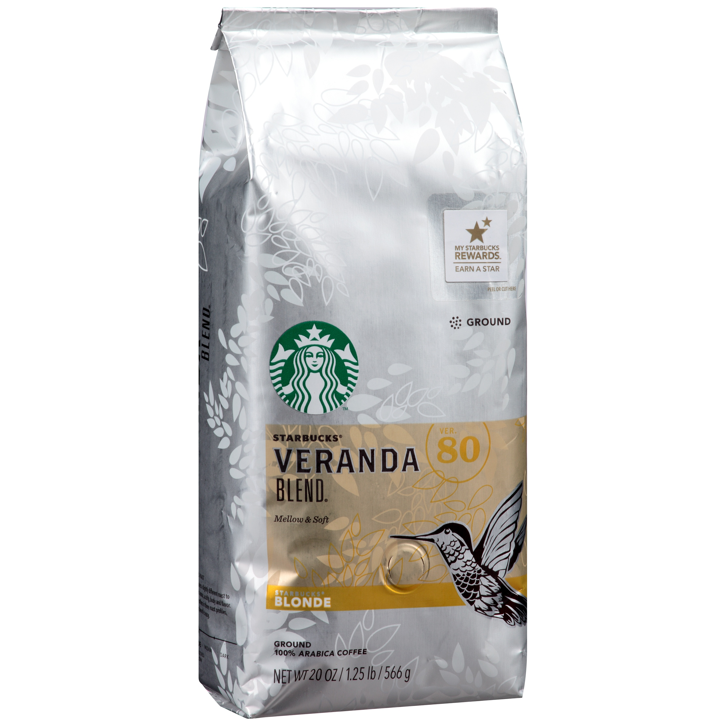 Starbucks Veranda Blend Ground 100% Arabica Coffee, 20 oz