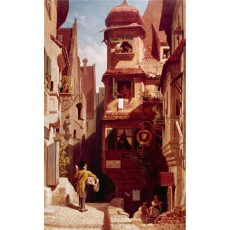 Posterazzi SAL900121349 The Mailman in Rosenthal by Carl Spitzweg 1808-1885 Poster Print - 18 x 24 in.