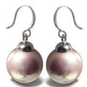 88 Imports ME0609 Mother of Pearl Earrings - Lavender