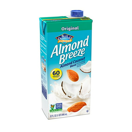 (4 Pack) Blue Diamond Almond Breeze Almond Coconut Milk, 32 fl (Baking Almond Milk)