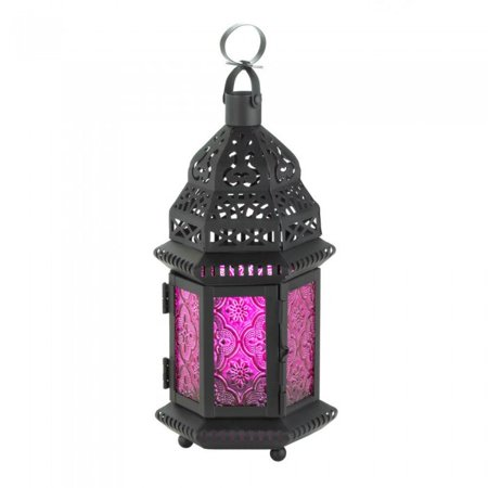 MULBERRY GLASS MOROCCAN STYLE LANTERN ()