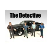 """The Detective"""" 4 Piece Figure Set For 1:24 Scale Models by American Diorama"""""""