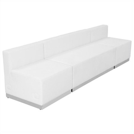 Flash Furniture Hercules Alon 3 Piece Reception Seating in White ()