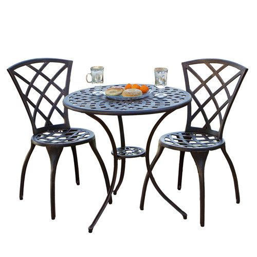Cast Aluminum Copper Bistro Set