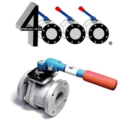 American Valve 4000D 2 1-2 2.5 in. Ductile Iron Flanged Ball Valve