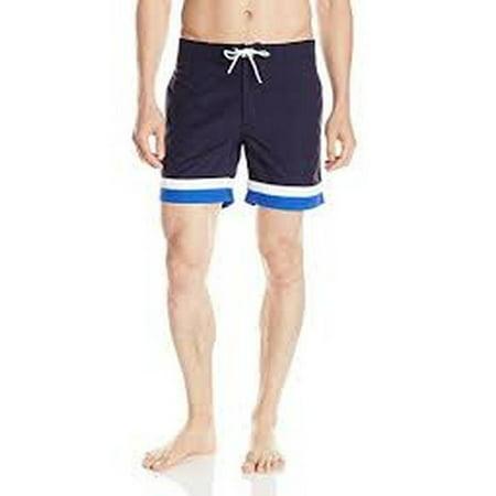 dc75e1d44a Lacoste - Lacoste Men's Taffeta Basic 6 Inch Swim Trunk, Navy Blue/White,  Medium - Walmart.com