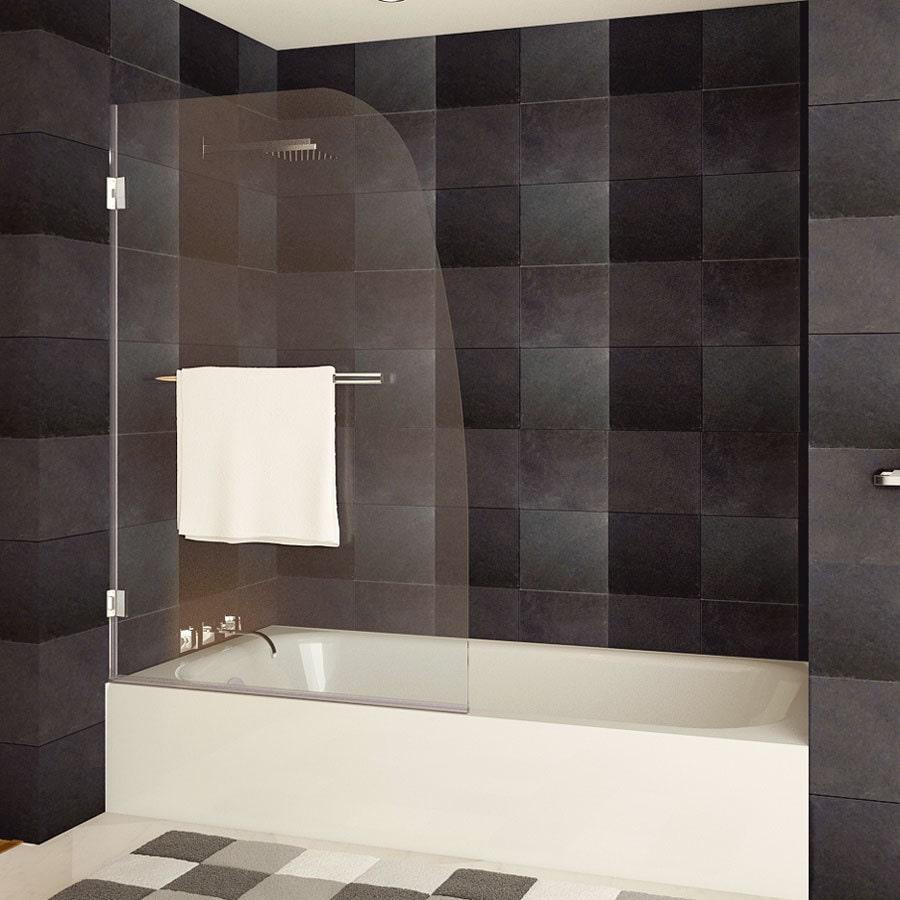 LessCare  Tempered Glass Frameless Swingout Bathtub Door