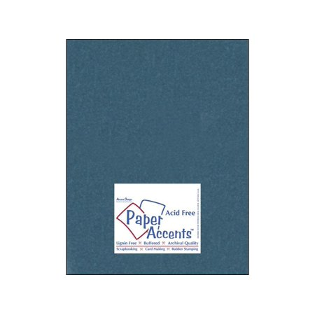 Cardstock Silk 8.5x11 92# Tranquil Teal 5pc ()