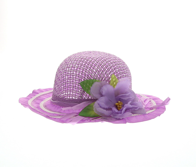 Girls Sunflower Straw Tea Party Hat Set Assorted Colors 9 Pcs Summer Beach Cap Travel Hat