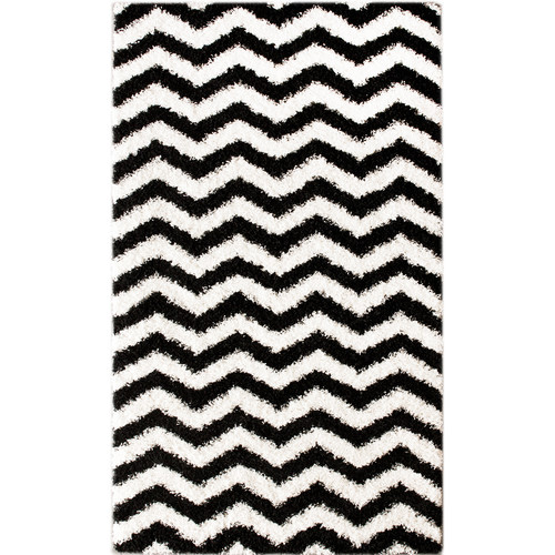 nuLOOM Shaggy Chevron Black/White Outdoor Area Rug