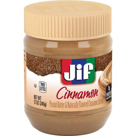 (3 Pack) Jif Peanut Butter and Naturally Flavored Cinnamon Spread, - Halloween Food Spreads