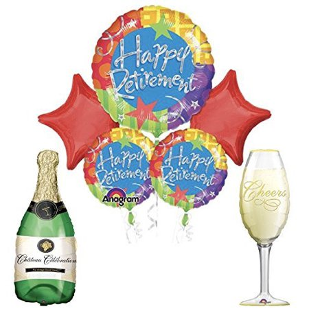Retirement Party Supplies and Balloon Bouquet Decoration Kit