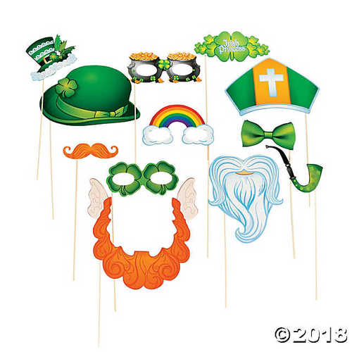 St. Patrick's Day Costume Photo Stick Props