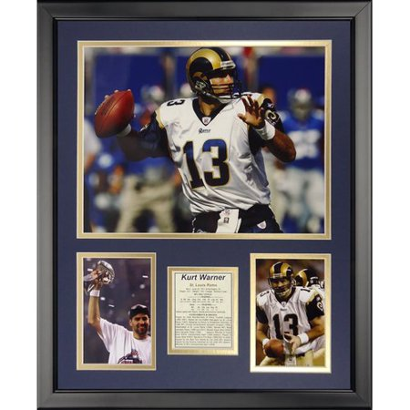 Legends Never Die Nfl St  Louis Rams   Kurt Warner Framed Memorabili